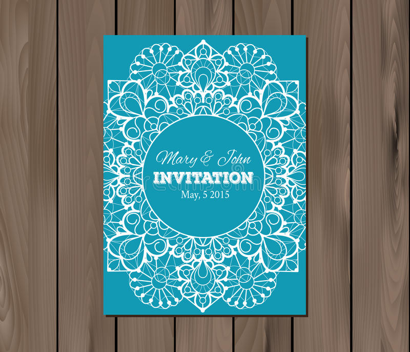 Wedding invitation card template stock vector illustration of download wedding invitation card template stock vector illustration of marriage border 53817632 stopboris Images