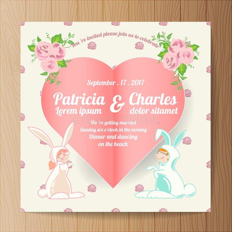 Wedding invitation card templates cartoon character rabbit bri download wedding invitation card templates cartoon character rabbit bri stock vector illustration of design stopboris Gallery