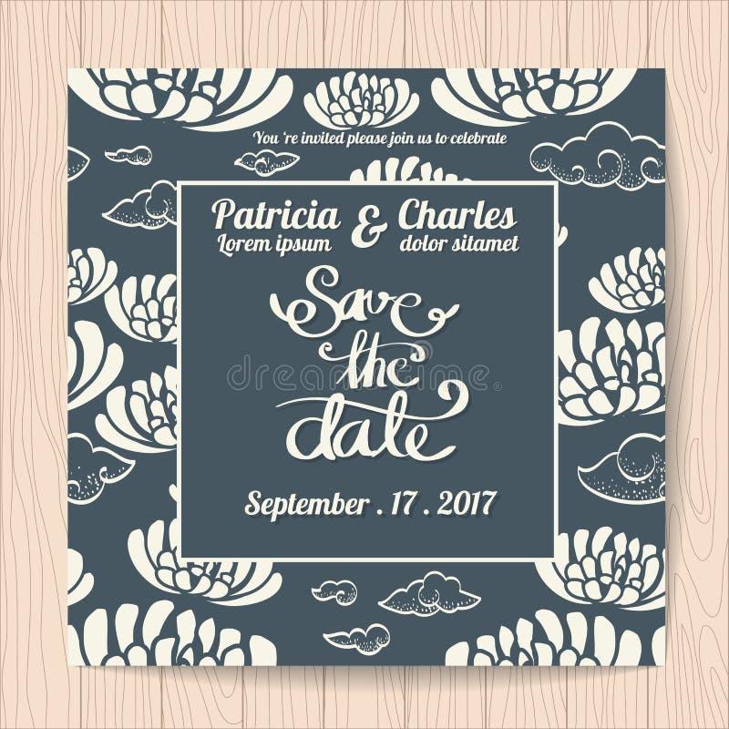 Wedding Invitation Card Templates Japanese Style Stock Vector ...