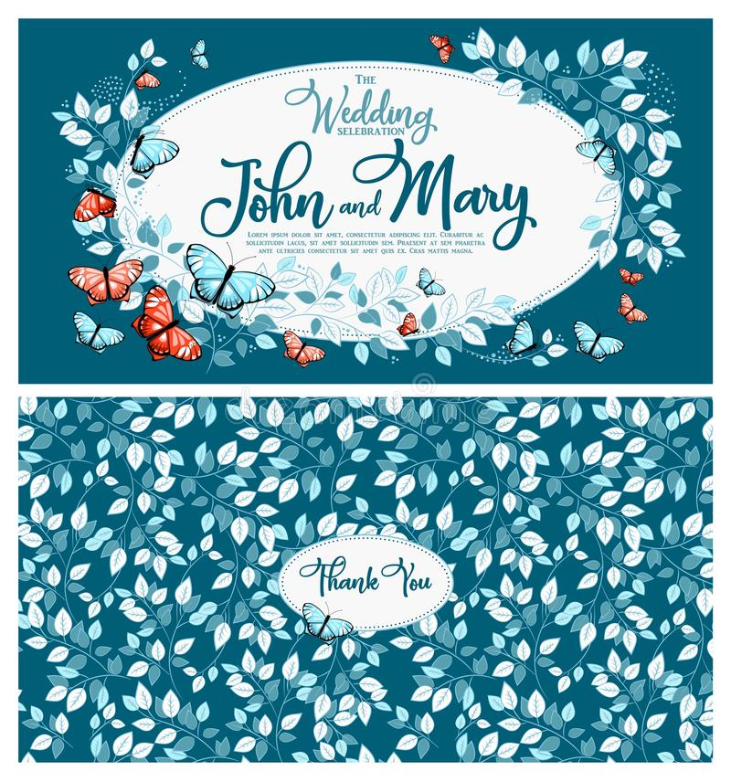 Wedding Invitation card 1 royalty free illustration