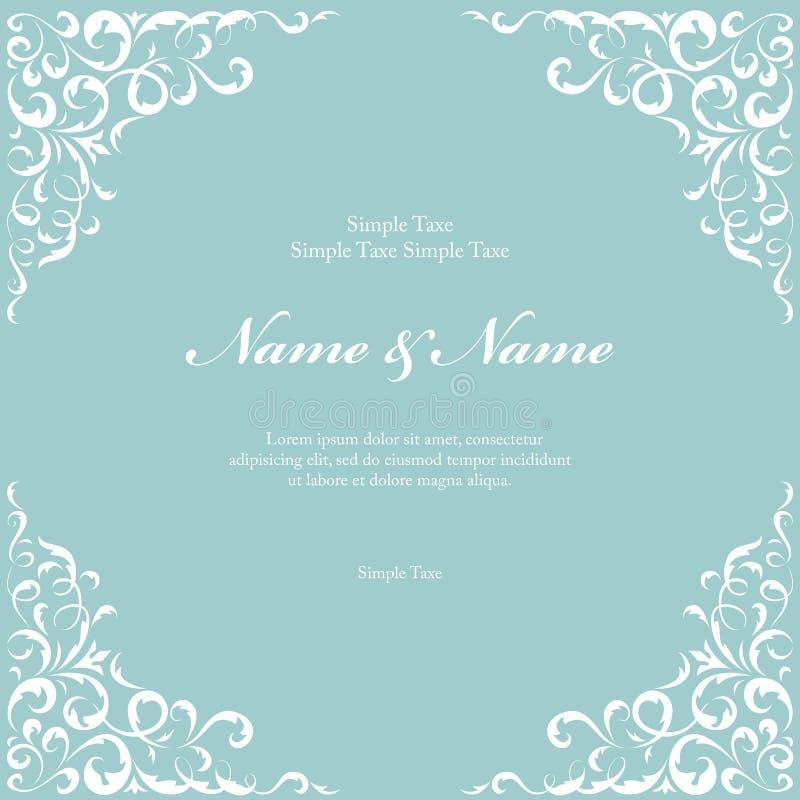 Wedding invitation cards with floral elements. Illustration royalty free illustration