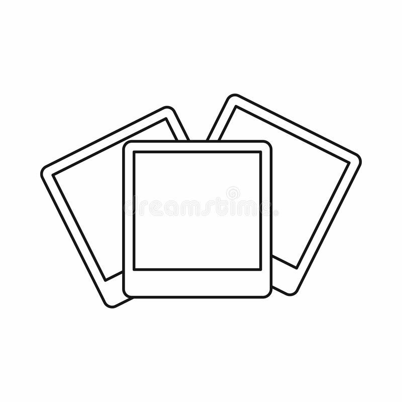 Wedding invitation cards icon, outline style. Wedding invitation cards icon in outline style isolated on white background vector illustration royalty free illustration