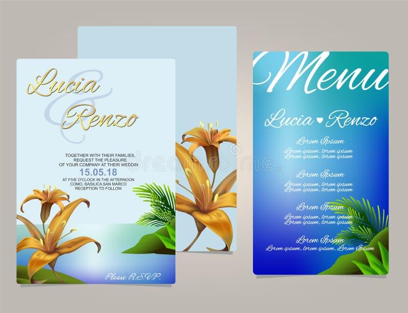 Wedding invitation, with children stock image