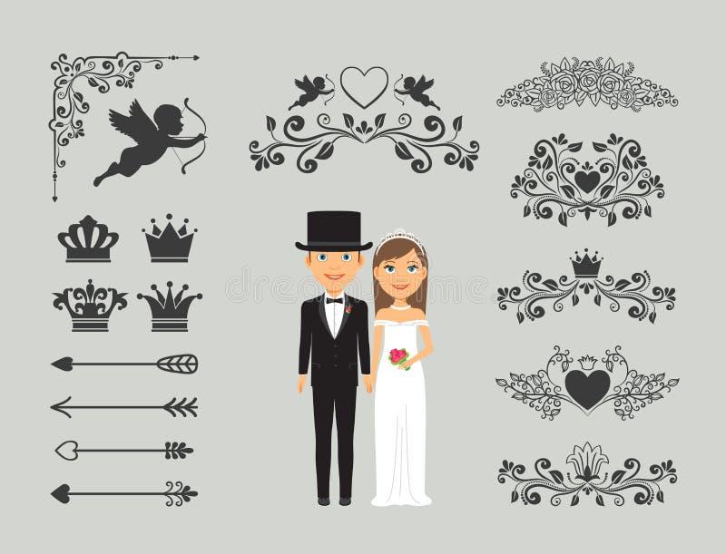 Wedding invitation design elements stock vector illustration of download wedding invitation design elements stock vector illustration of elegant greeting 48901146 junglespirit Image collections