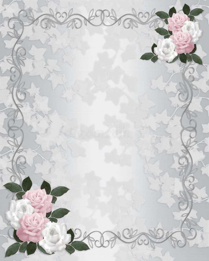 Wedding invitation elegant roses royalty free illustration