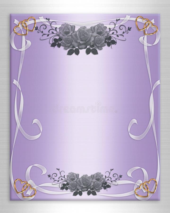 wedding invitation floral border satin stock illustration