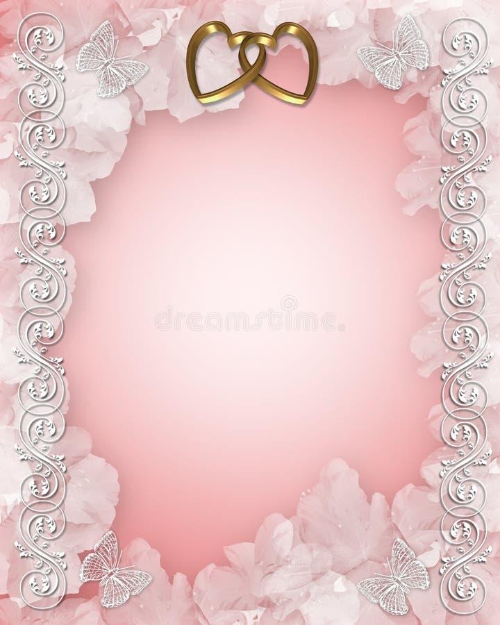 Wedding Invitation Floral Design stock illustration