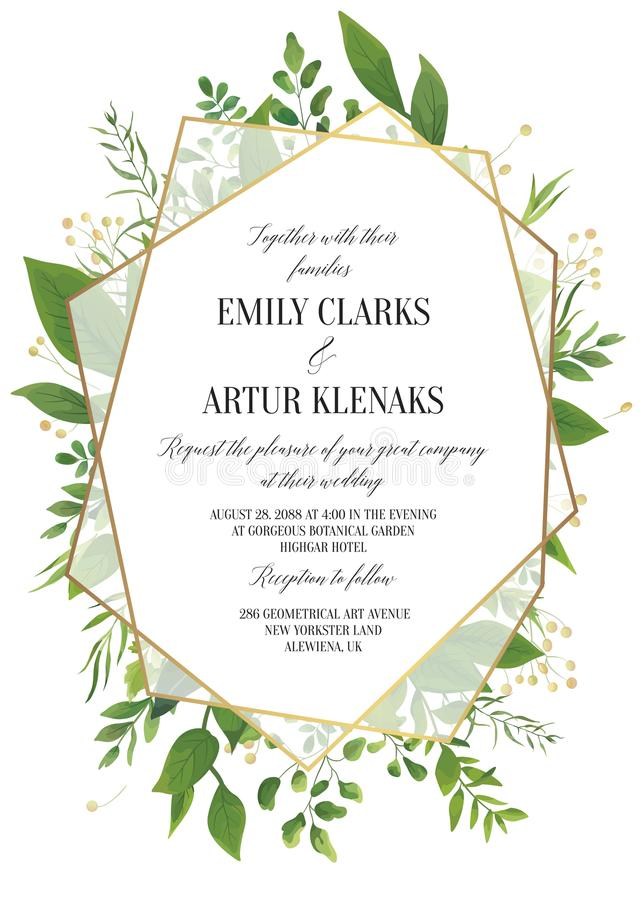 Wedding Invitation, Floral Invite Save The Date Modern Card Desi ...