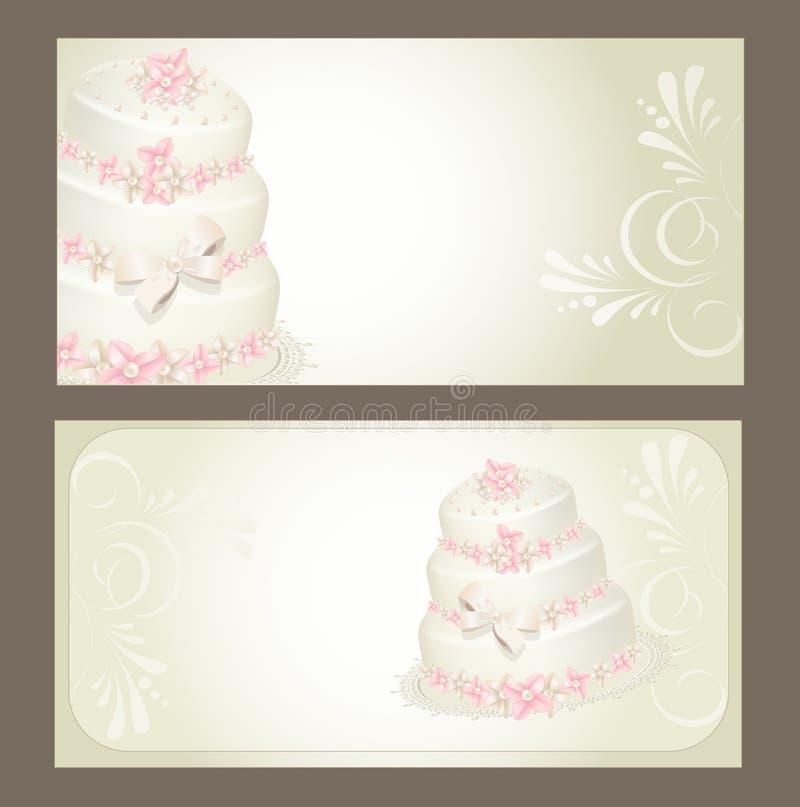 Wedding invitation, greeting card vector illustration