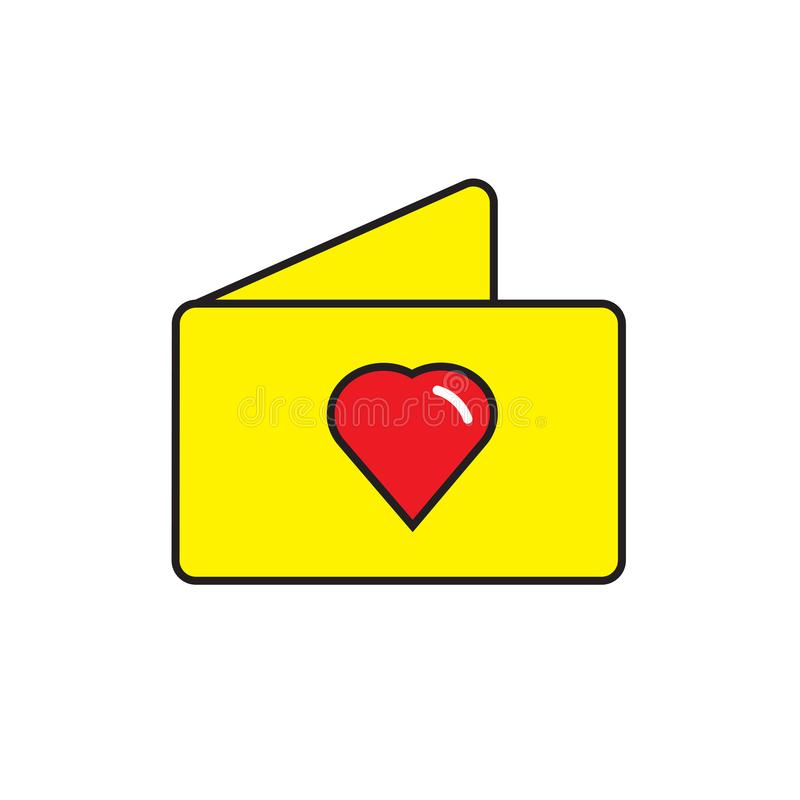 Wedding invitation icon vector sign and symbol isolated on white background stock illustration