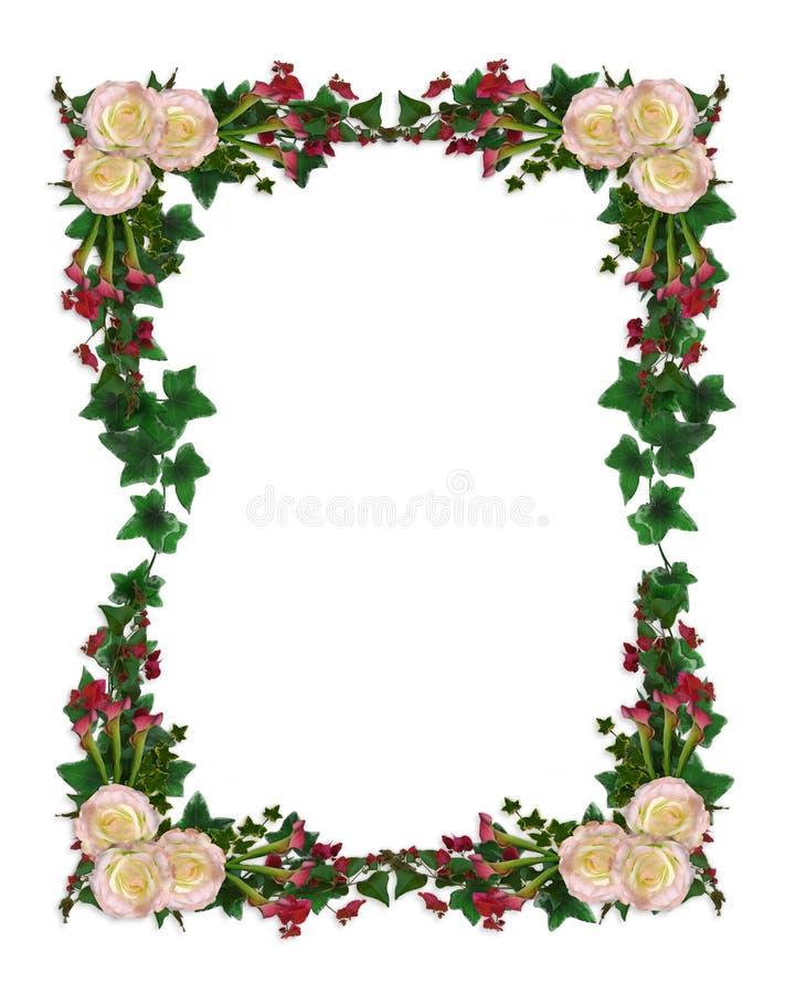 Calla lily and roses Wedding invitation