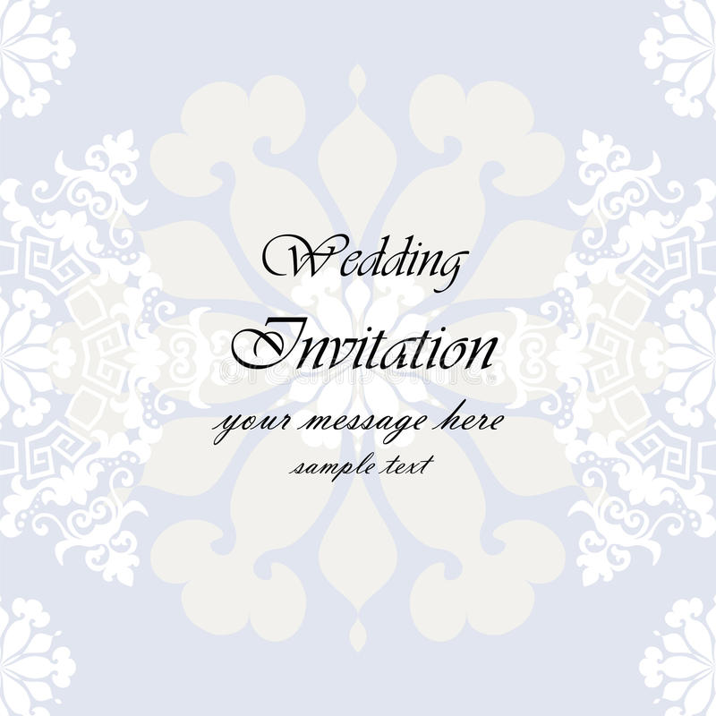 Wedding Invitation with lace background. Wedding Invitation with floral lace background. Vector vector illustration