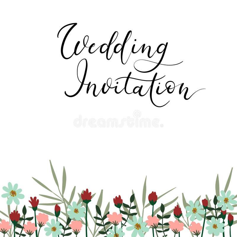 Wedding invitation modern calligraphy card vector hand lettering download wedding invitation modern calligraphy card vector hand lettering text stock vector illustration stopboris Images