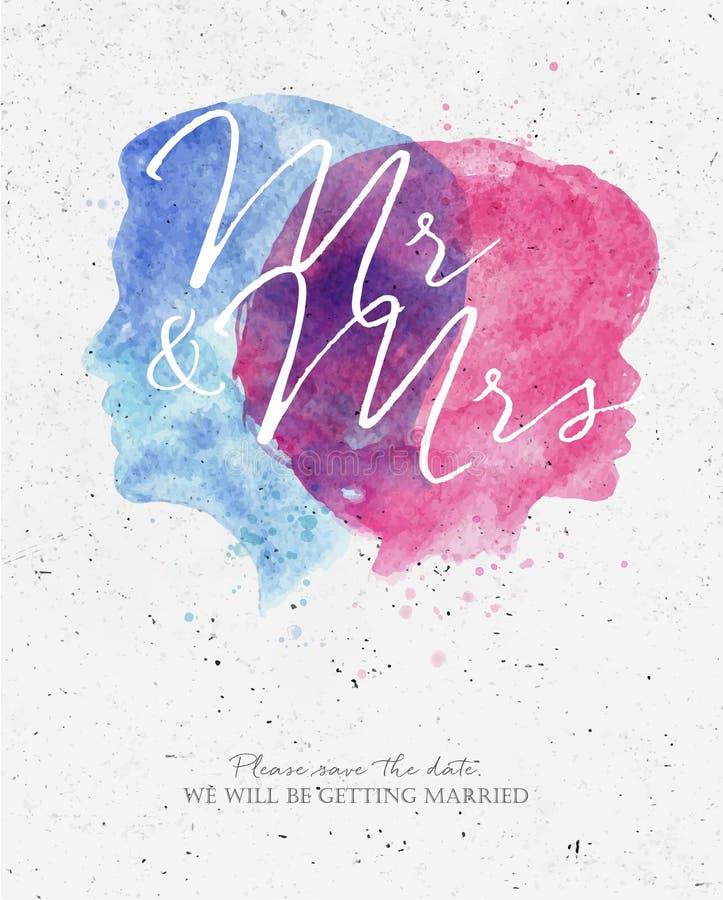 Wedding Invitation Mr And Mrs Stock Vector - Image: 71324794