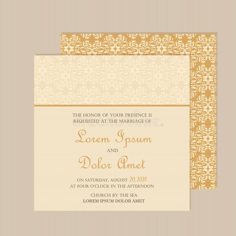 Free Wedding Invitation Or Announcement Card Royalty Free Stock Photography - 56077507