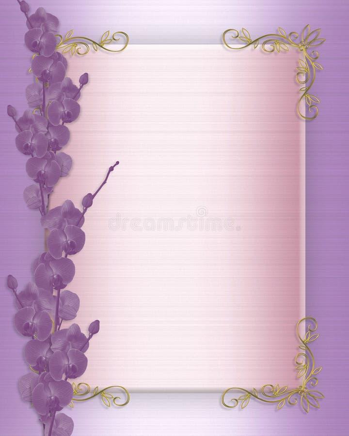 Wedding Invitation Orchids Border Stock Photos