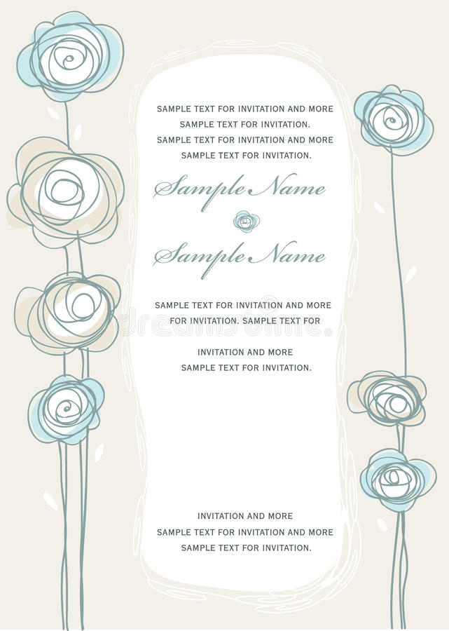 Download Wedding Invitation Panels stock vector. Image of background - 13342526