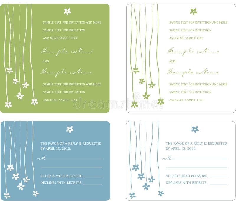 Wedding Invitation Panels stock images