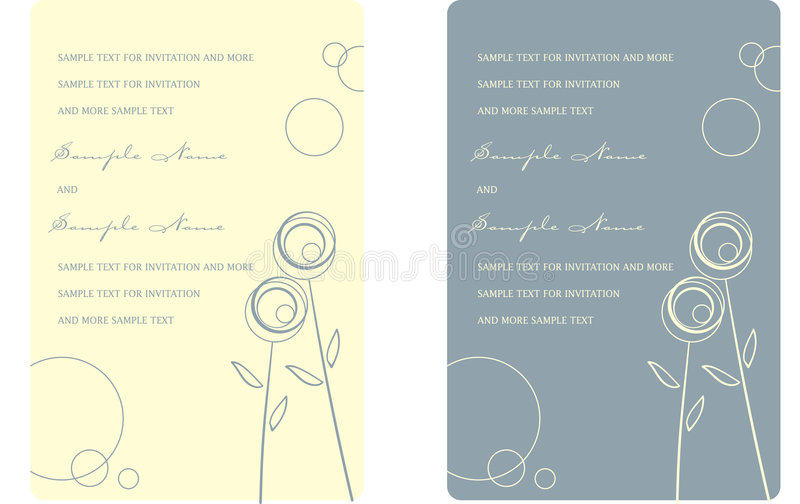 Wedding Invitation Panels stock photography