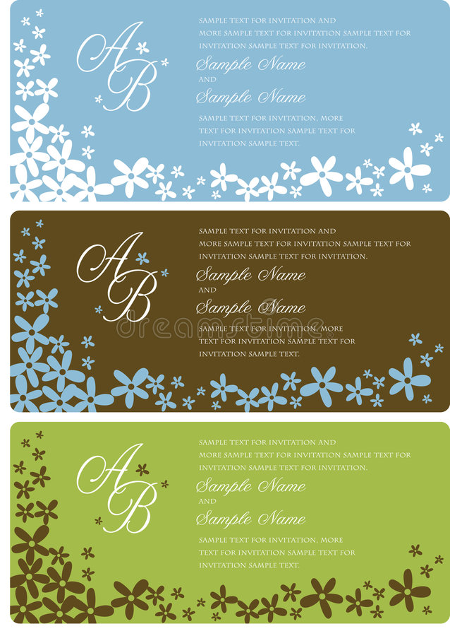 Download Wedding Invitation Panels stock vector. Image of date - 9048179