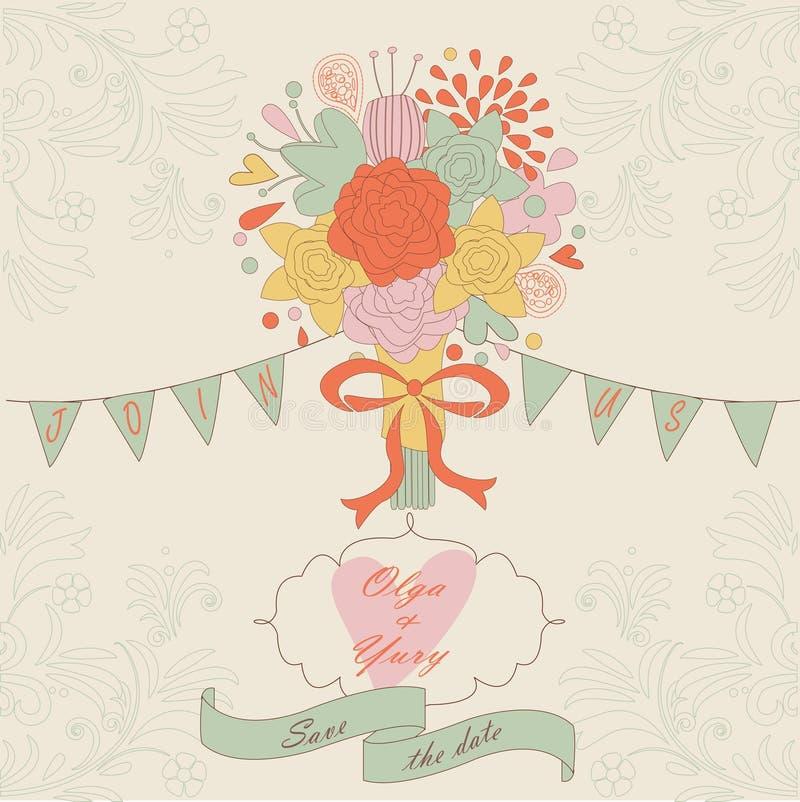 Download Wedding invitation stock vector. Image of flags, bird - 36903416