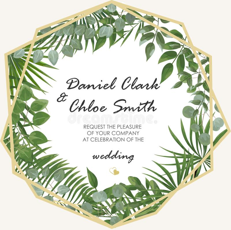 Wedding Invitation, rsvp modern card Design. Vector natural, bot. Anical, elegant template.Wedding floral watercolor style, invitation, save the date card stock images