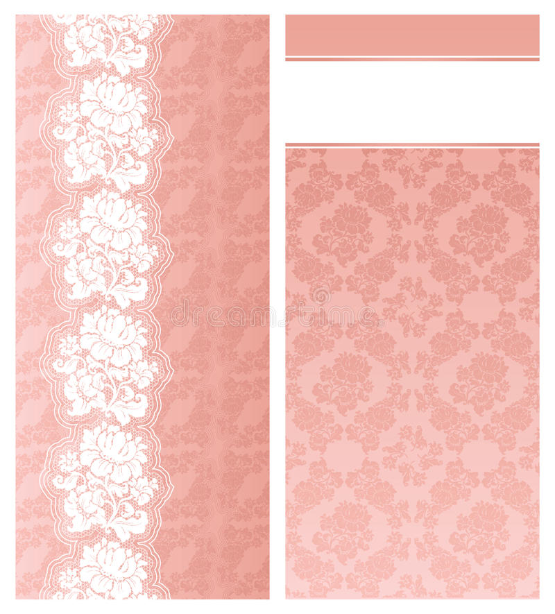 Wedding invitation, template stock illustration