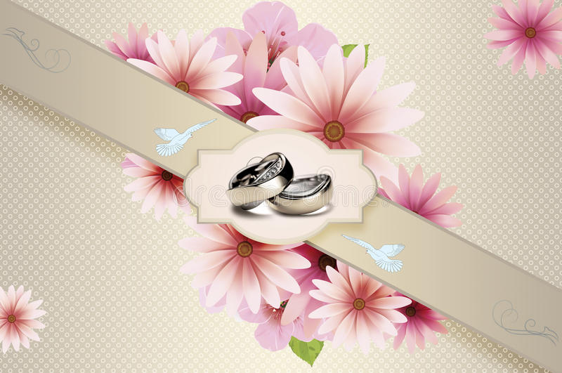Floral Wedding Rings Your Design Stock Illustrations 58