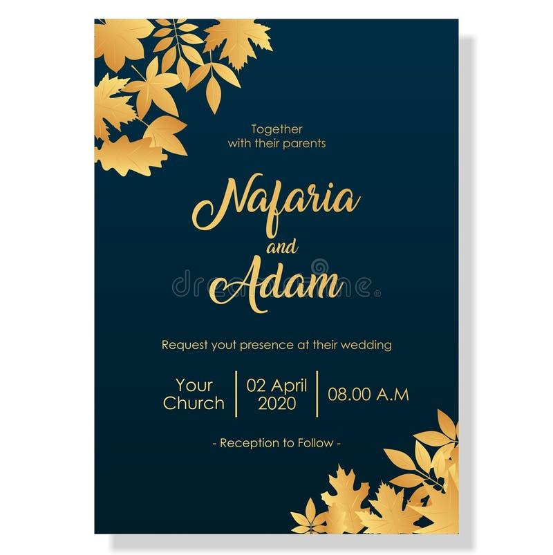 Wedding invitation template with elegant flowers. Design inspiration vector illustration