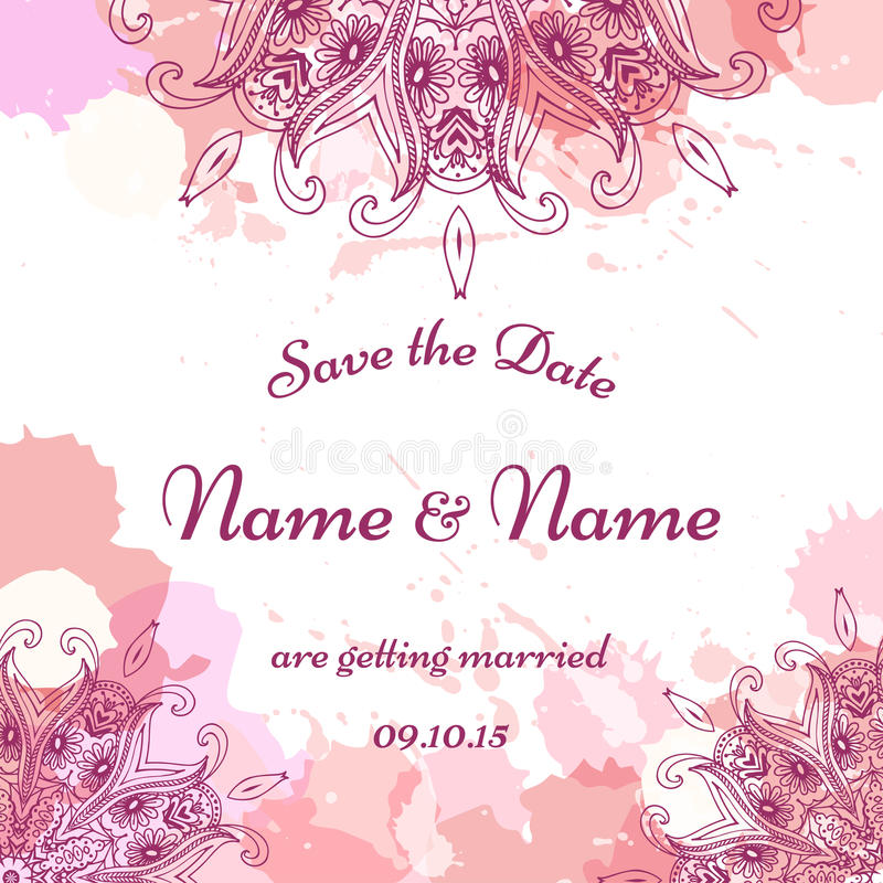 Wedding Invitation Template With Individual Concept. Design For ...