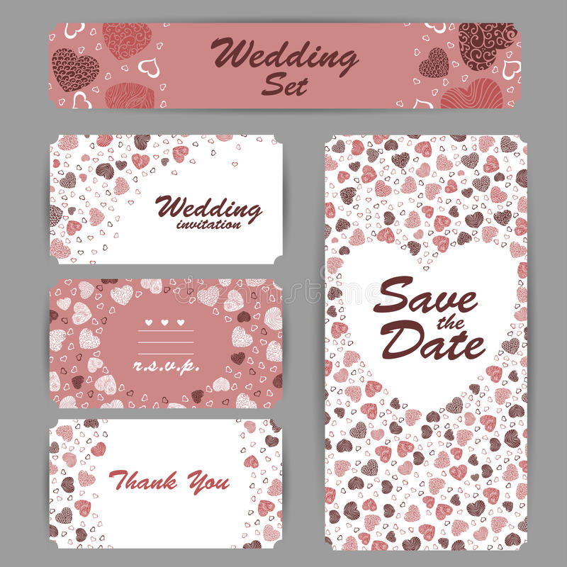 Wedding Invitation Thank You Card Save The Date Cards RSVP Card