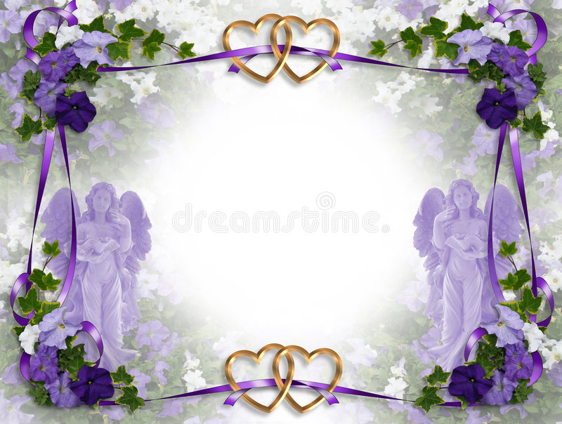 Wedding Invitation Victorian Angels Stock Images