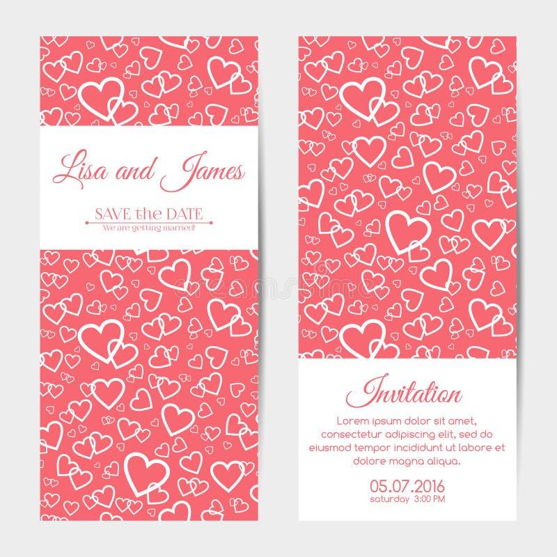 Wedding invitations, banners, cards stock illustration