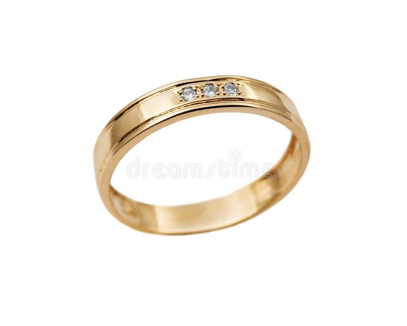 Wedding jewelry ring. Elegant wedding jewelry rings with jewel stone - brilliants stock image