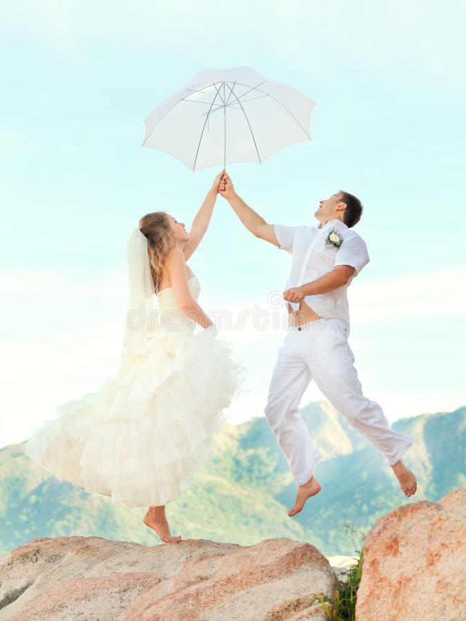 Download Wedding jump stock image. Image of outdoor, groom, motion - 21150615