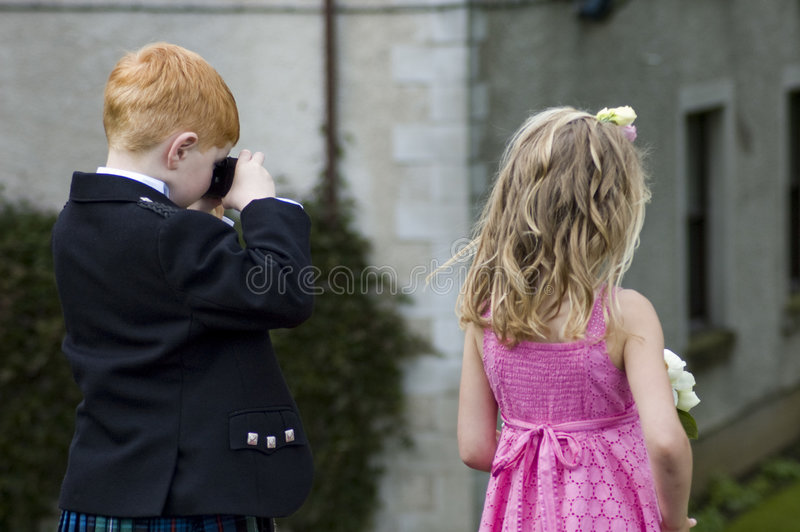 Wedding kids royalty free stock photos