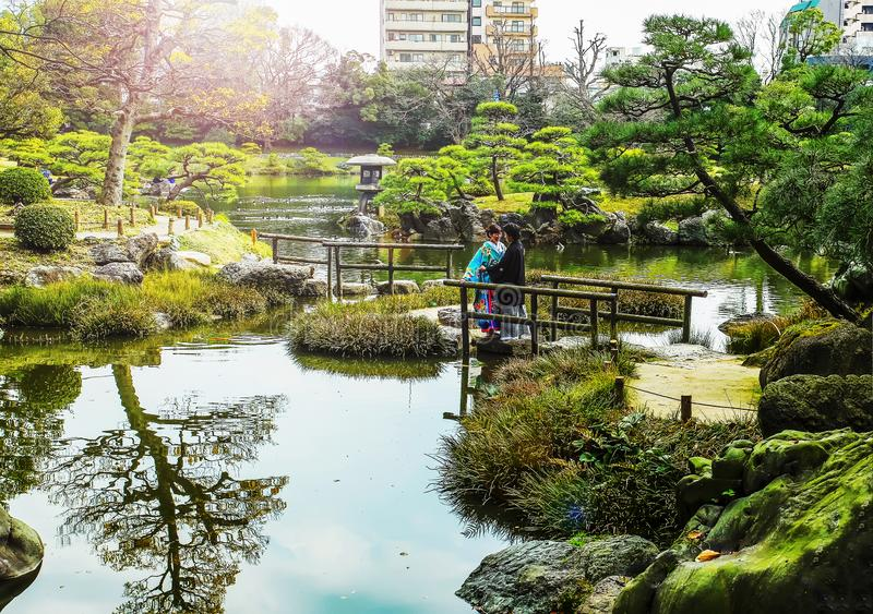 https://thumbs.dreamstime.com/b/wedding-kimono-kiyosumi-park-tokyo-japan-lovely-couple-amon-small-bridge-wooden-163395290.jpg