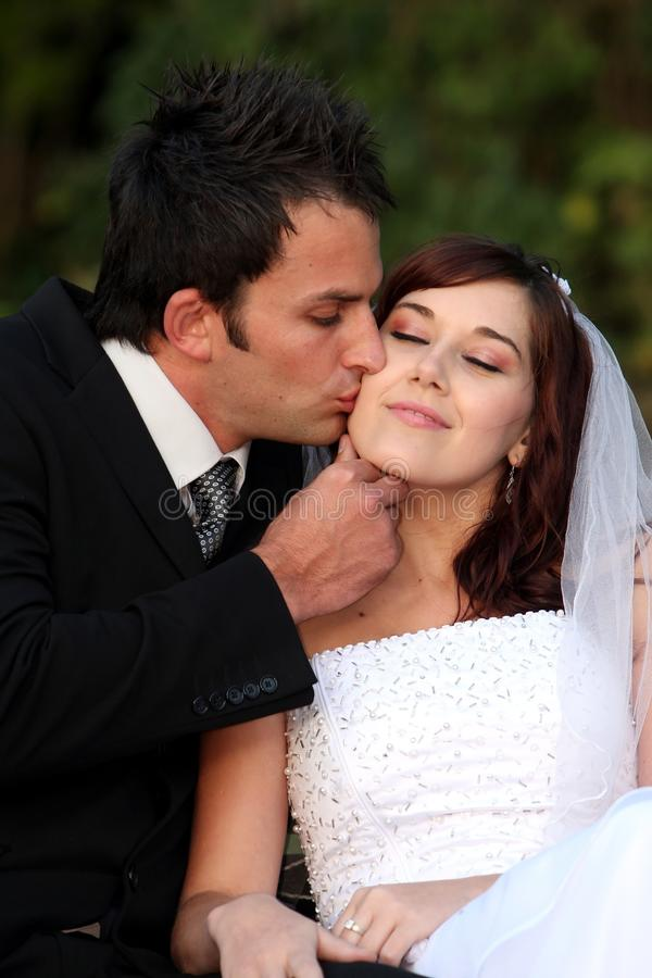 Download Wedding Kiss stock image. Image of happy, female, adult - 12033569