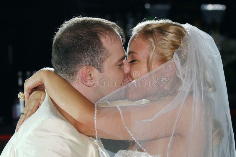 Wedding kiss royalty free stock photos