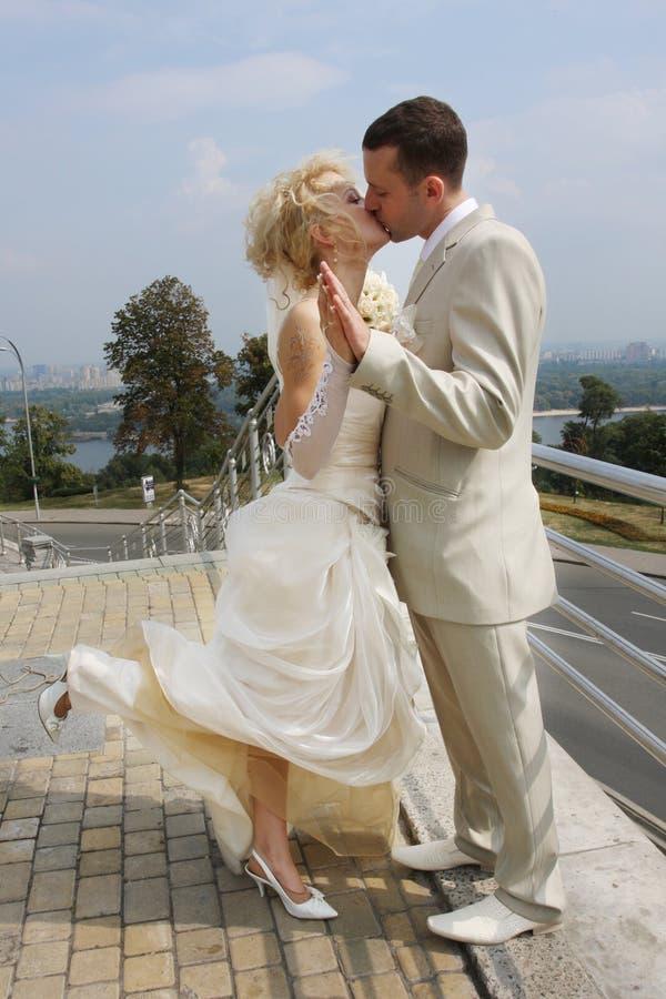 The wedding kiss royalty free stock photo