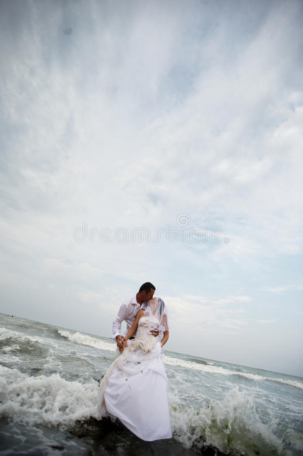 Download Wedding Kiss (bride And Groom Portrait) Stock Photo - Image: 15453720