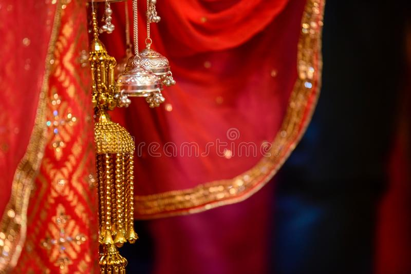 Hindu Wedding Knot. Wedding knot at hindu wedding stock images