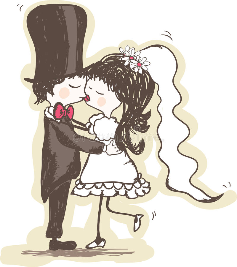Wedding Kuss vektor abbildung
