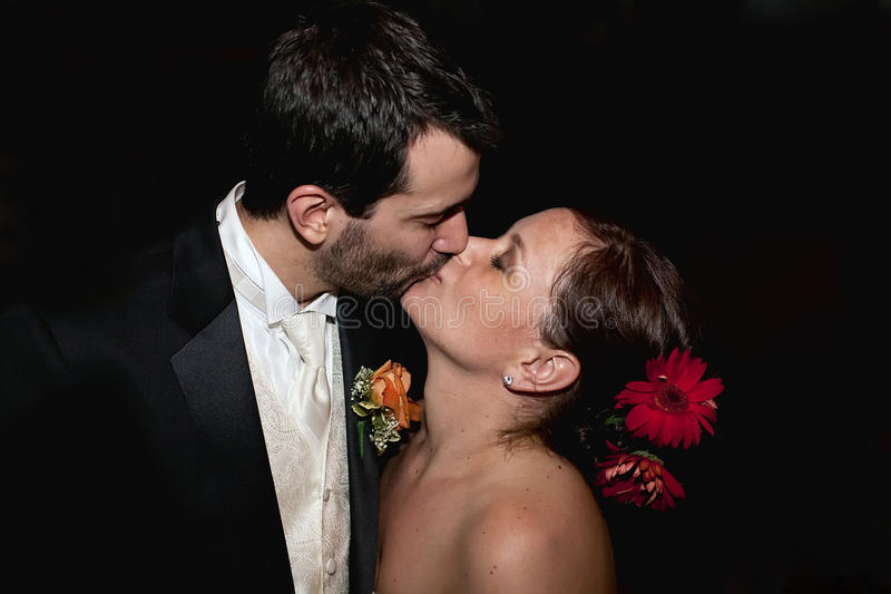 Wedding Kuss stockfotos