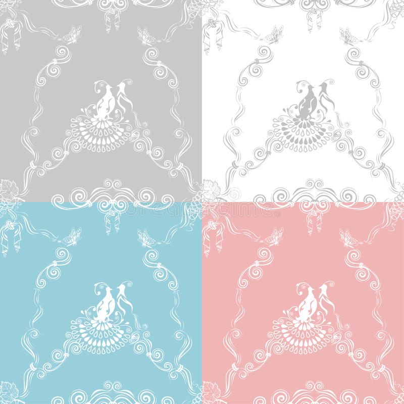 Wedding lace background vector illustration