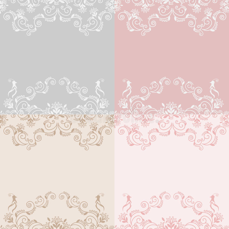 Wedding lace background royalty free illustration