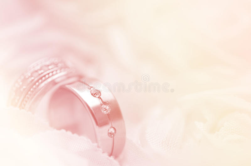Wedding lace and pearl stock photos