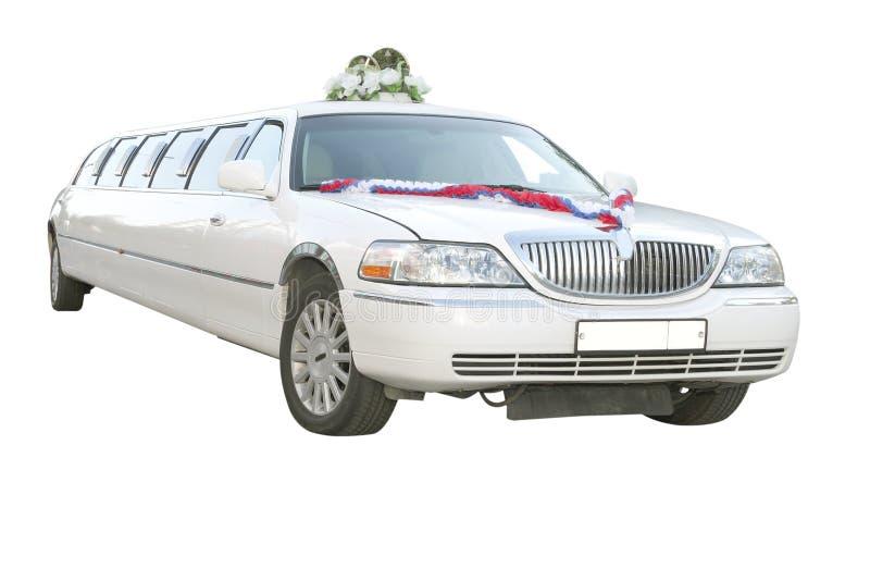 Wedding limousine. Under the white background stock photography