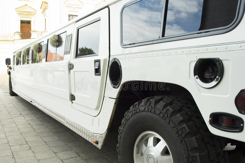 Wedding limousine. Waiting for newlywed royalty free stock photo
