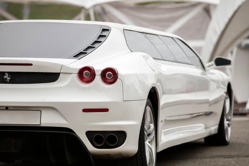 Wedding limousine stock photos